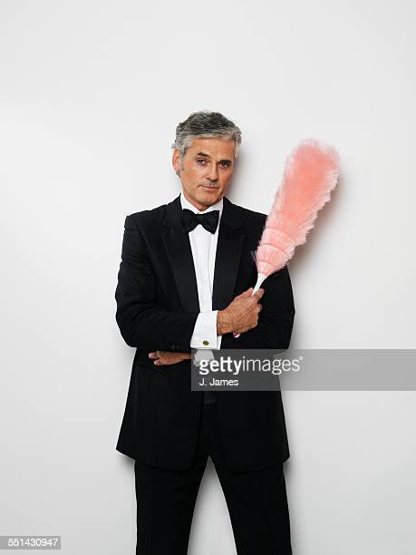 Man in Tuxedo with Duster