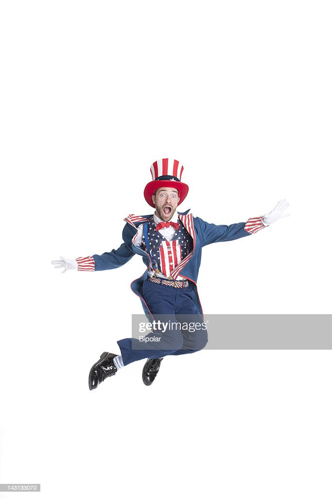 Man in Uncle Sam costume