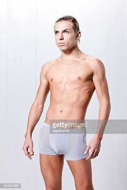 Man in underwear