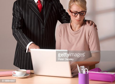 Man inappropriately touching girl