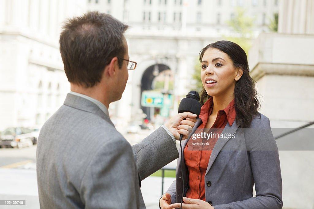 Man Interviews Woman