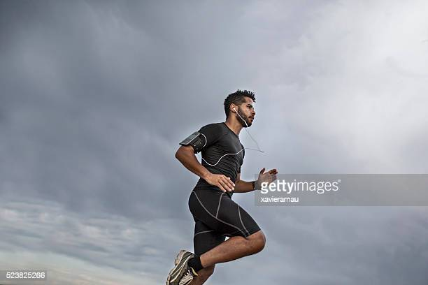 Man jogging in the evening