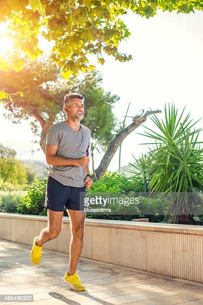 Man jogging in the morning