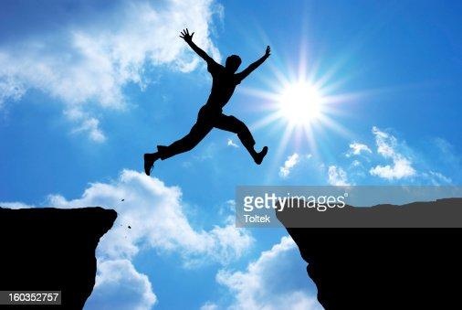 Man jump : Stock Photo