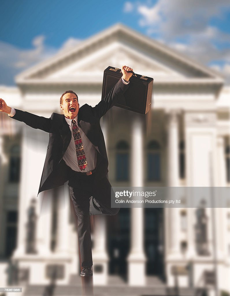 man jumping for joy stock photo getty images