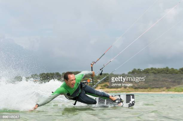 Man kiteboarding