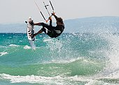 A Man Kitesurfing Off Dos Mares Beach In Front Of Hotel Dos Mares