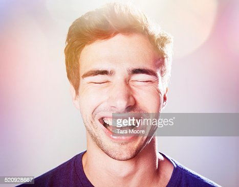 man laughing : Stock Photo
