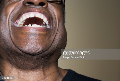 Man laughing : Foto de stock