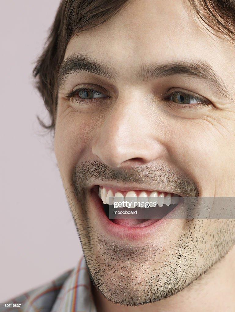 Man Laughing : Stock Photo