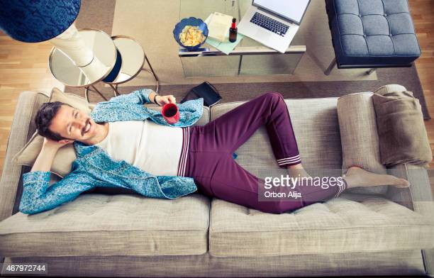 Man laying on couch