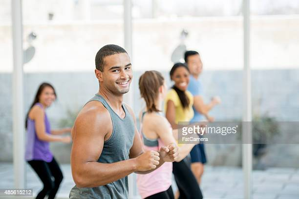 Man Leading Fitness Class