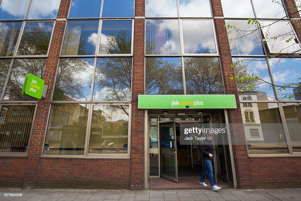 A man leaves the Job Centre in Westminster on May 3, 2016 in London, England. The Resolution Foundation, chaired by former Conservative Minister David Willets, has said the Government's benefit reform has 'veered off track' due to cost-cutting. They say that 2.5 million families could be worse off, some by over ��3,000 a year. Universal Credit is a single payment and replaces six current benefits, including Jobseeker's Allowance and Employment and Support Allowance.