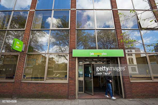 A man leaves the Job Centre in Westminster on May 3 2016 in London England The Resolution Foundation chaired by former Conservative Minister David...
