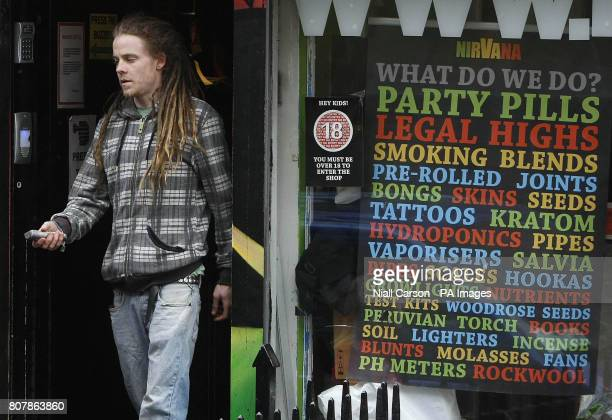 A man leaves the Nirvana Head Shop in Dublin as owners of controversial shops were warned tonight the lucrative trade in oncelegal highs was over...