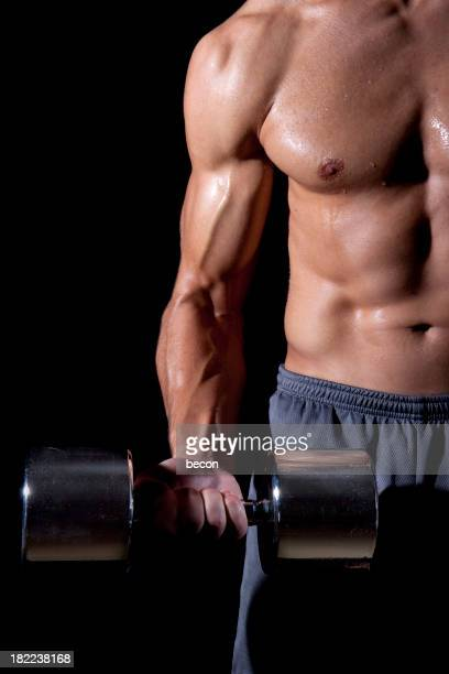 Man Lifting Dumbell