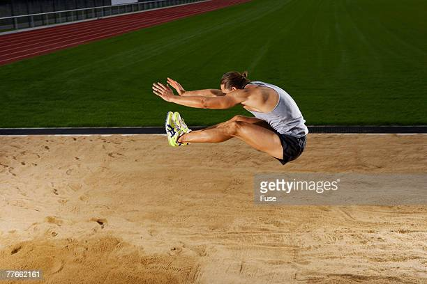 Man Long Jumping