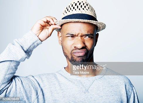 man looking annoyed