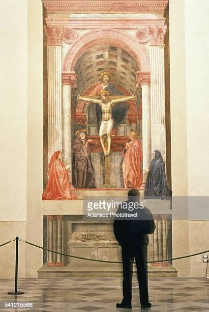 Man Looking at Masaccio Fresco at Santa Maria Novella