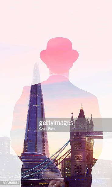 Man looking at towers