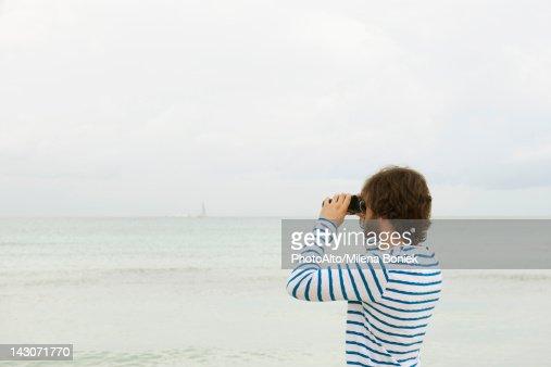 View through binoculars