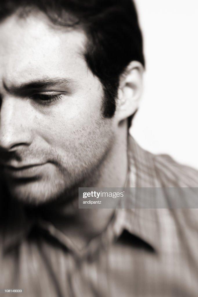 Man looking away : Stock Photo