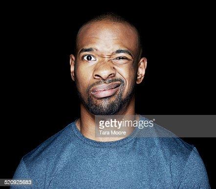 man looking confused