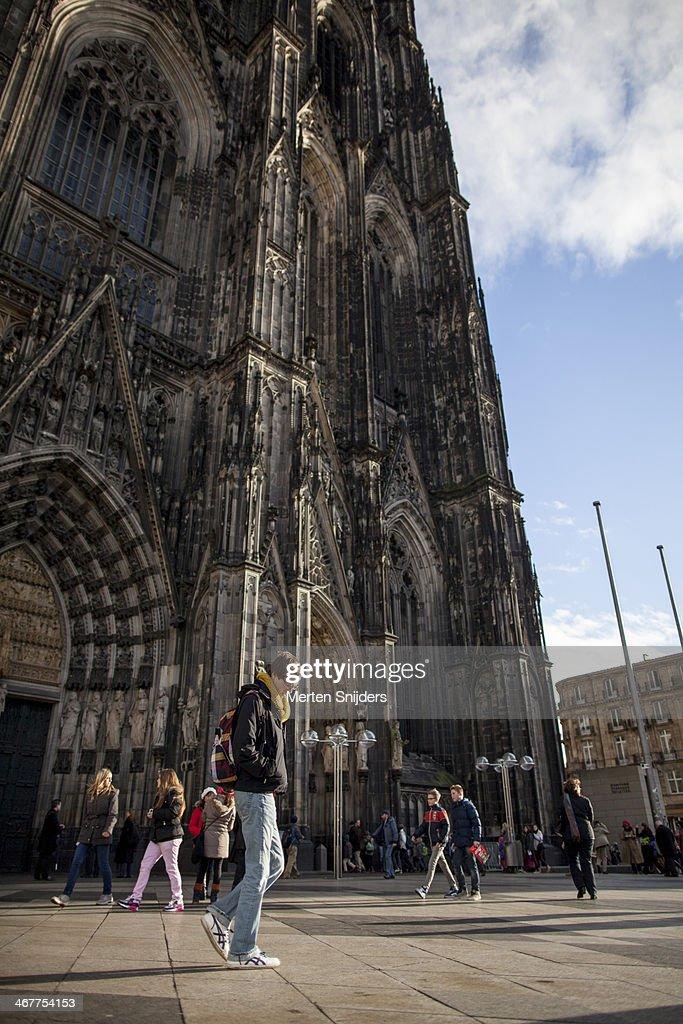 Man looking down at Cathedral
