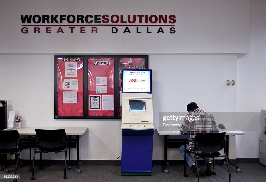 A Man Looks For Job At The Workforce Solutions Greater Dallas Employment Center In Irving
