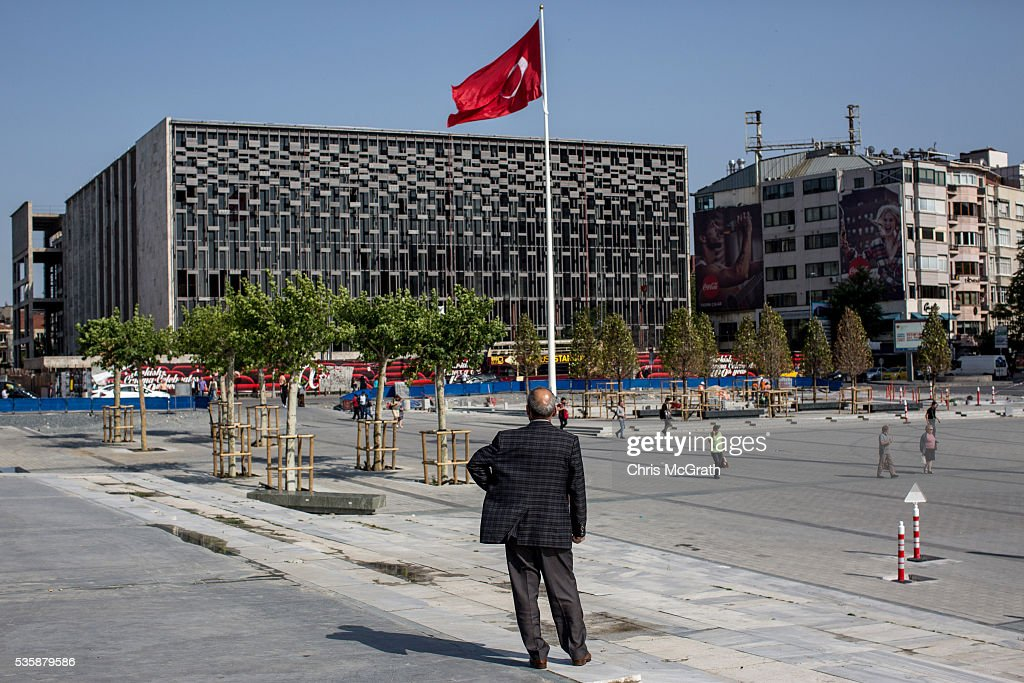A man looks out from the top of the Gezi Park stairs on the eve of the 3rd anniversary of the Gezi Park protests on May 30, 2016 in Istanbul, Turkey. The protests began on May 28, 2013 to contest the planned urban development of Gezi Park however larger protests started after police evicted protesters from the park sparking weeks of civil unrest.
