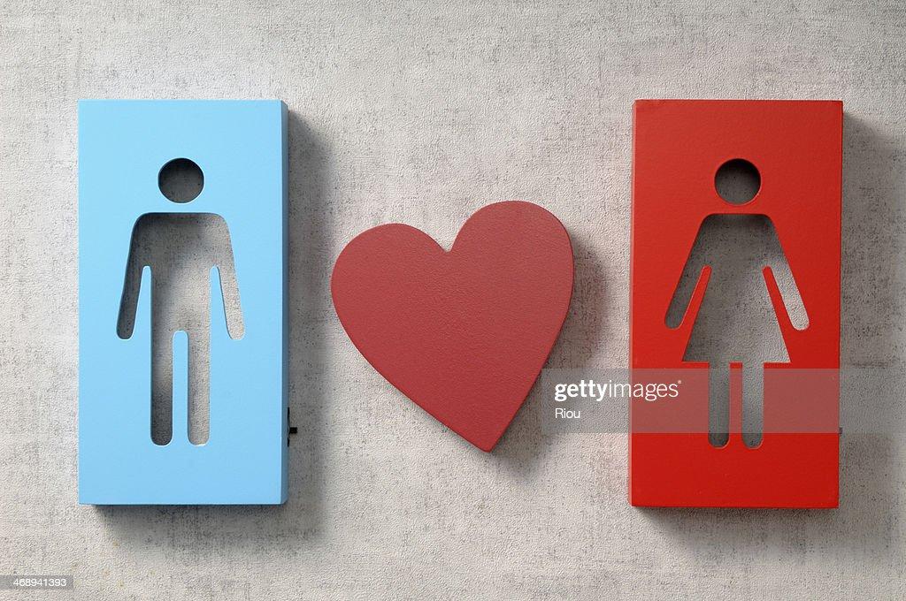 man love woman : Stock Photo