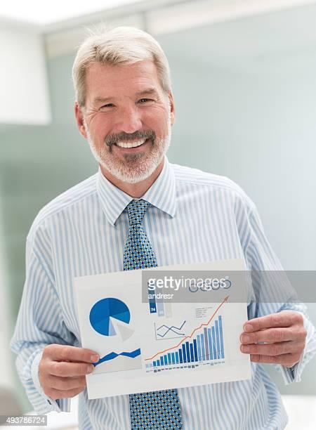 Man making a business presentation