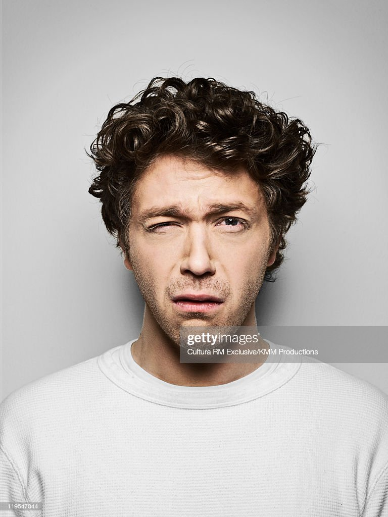 Man making a face : Stock Photo