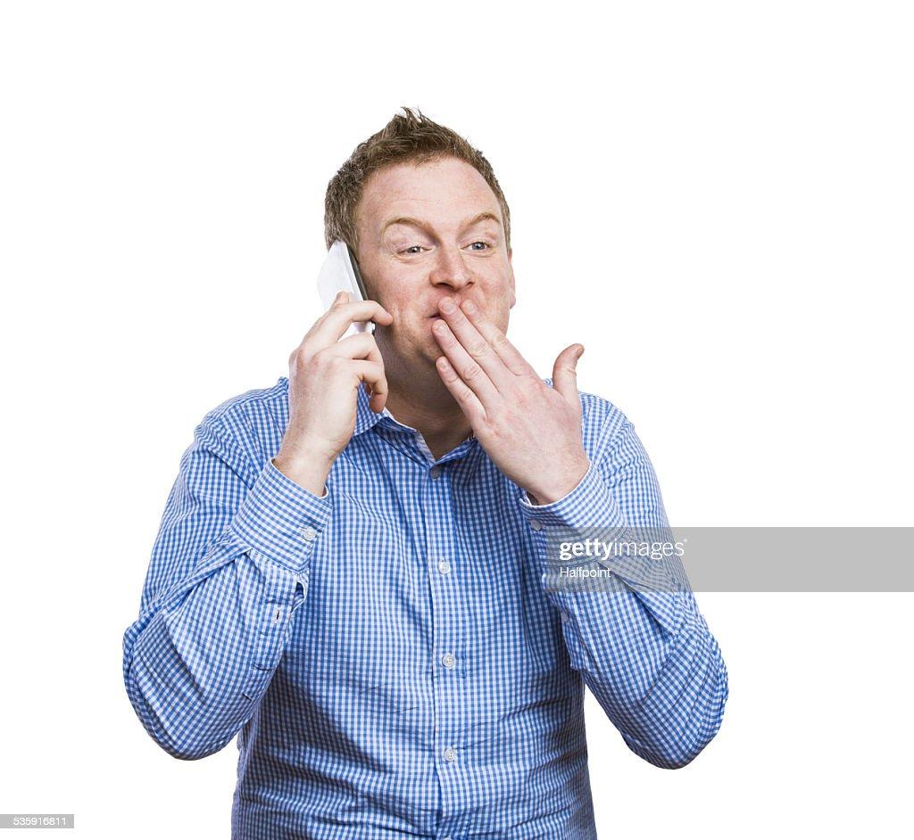 Man making a phone call : Stock Photo