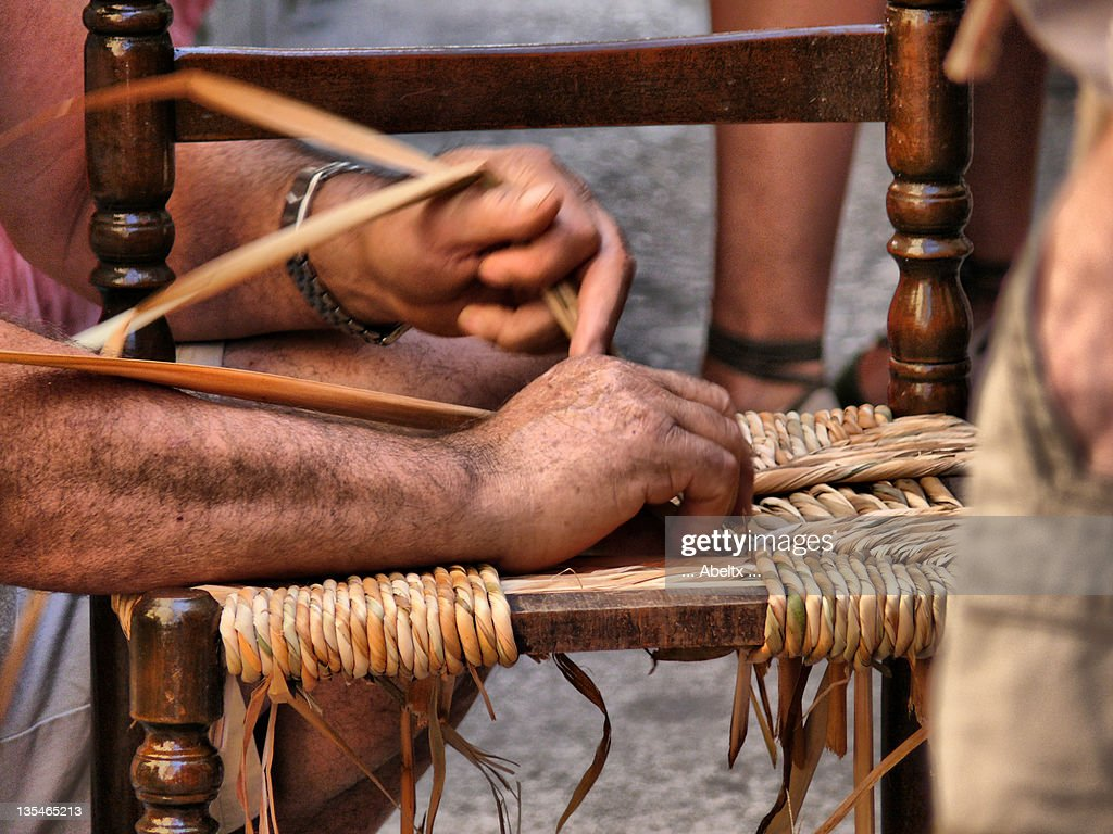 Man making chair : Stock Photo