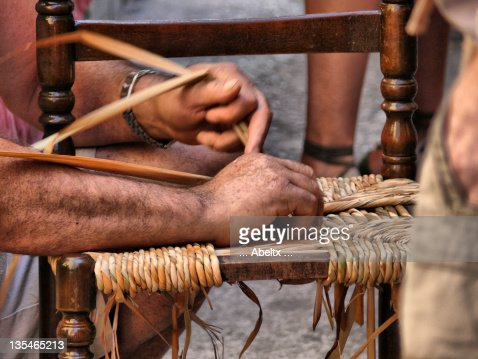 Man making chair : Stock Photo