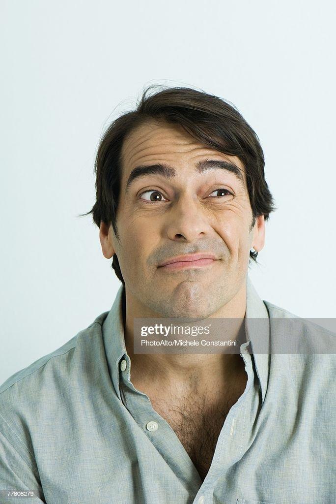 Man making face, portrait