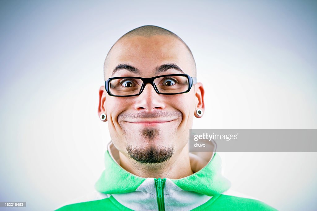 Man making funny face : Stock Photo