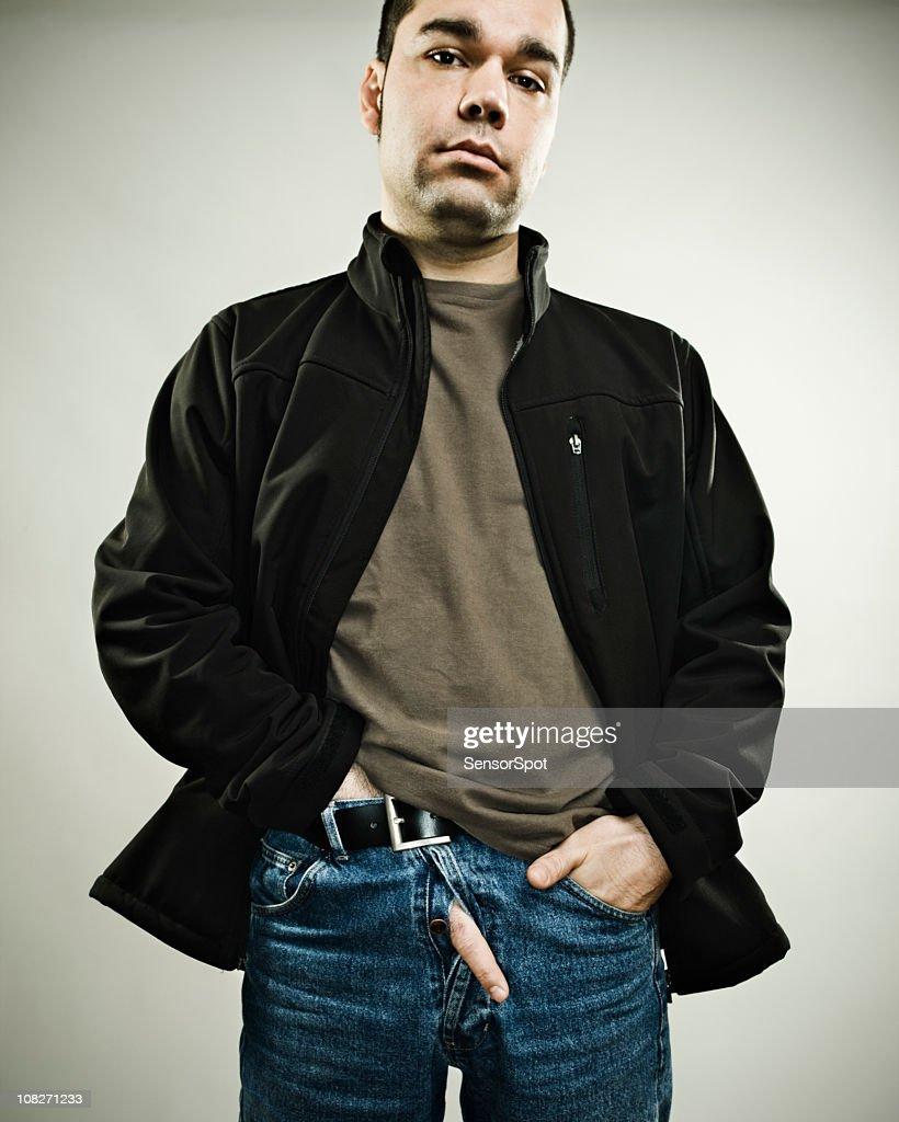 man making obscene gesture : Stock Photo