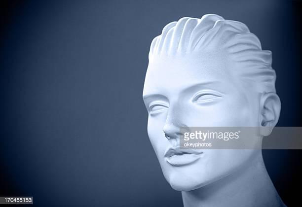 man mannequin sitting