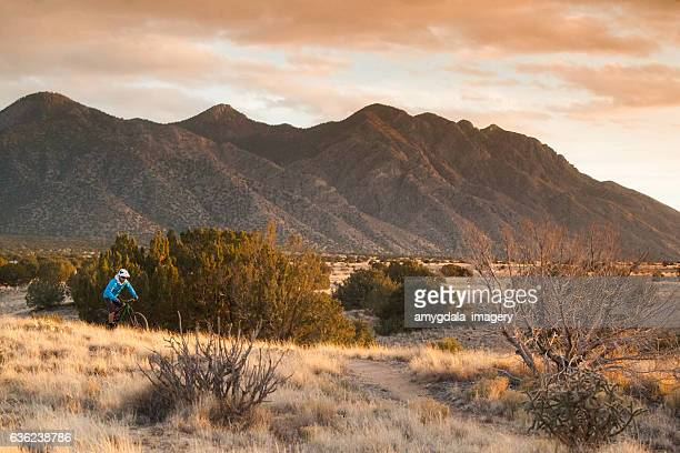 man mountain biking inspiration new mexico
