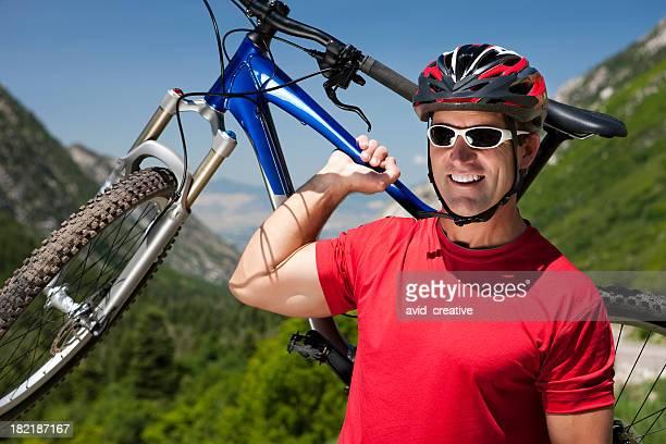 Man Mountain Biking Portrait