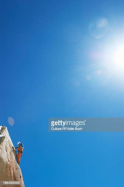 Man mountain climbing, Chamonix, France