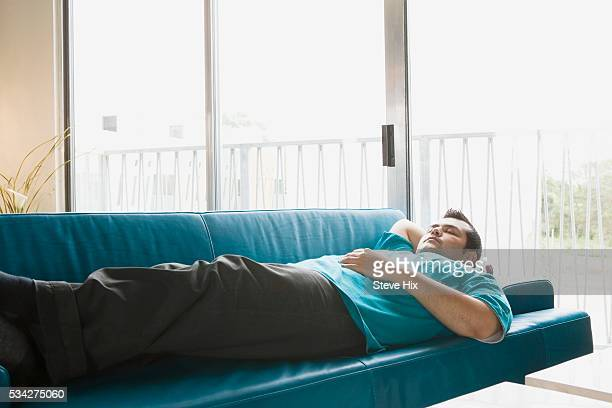 Man Napping at Home