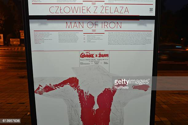 'Man Of Iron' one of many posters from 40/90 an exhibition that presents in chronological order all Andrzej Wajda 40 films created over 60 years...
