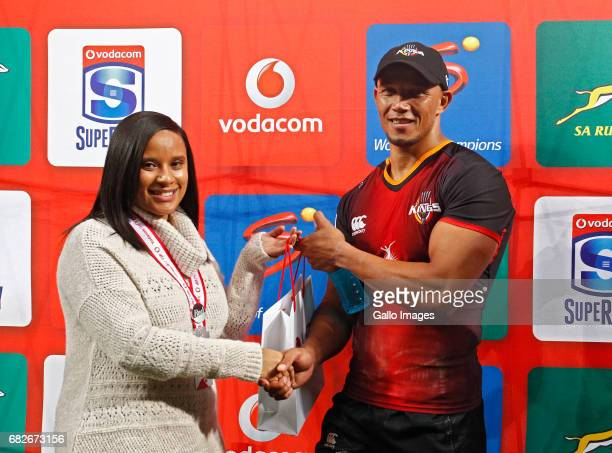 man of the match Alshaun Bock of the Southern Kings during the Super Rugby match between Southern Kings and Cell C Sharks at Nelson Mandela Bay...