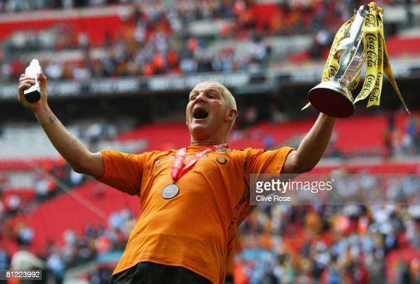 Man of the match Dean Windass of Hull City celebrates victory following the Coca Cola Championship Playoff Final match between Hull City and Bristol...