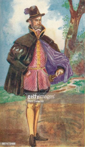 A Man of the Time of Mary' 1907 From English Costume painted and described by Dion Clayton Calthrop [Adam Charles Black London 1907] Artist Dion...