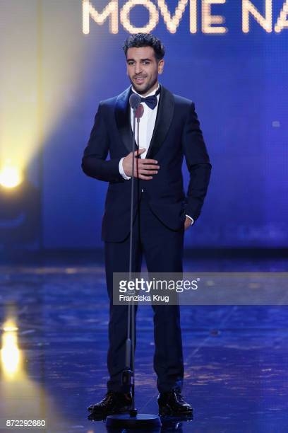 Man of the year Elyas M'Barek is seen on stage at the GQ Men of the year Award 2017 show at Komische Oper on November 9 2017 in Berlin Germany