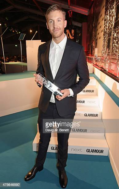 Man of the Year winner Calvin Harris attend the Glamour Women Of The Year awards at Berkeley Square Gardens on June 2 2015 in London England
